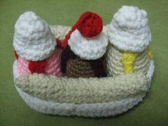 Banana Split free crochet pattern