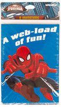 "Ultimate Spider-Man ""Blue"" Invitations w/ Envelopes 8ct by ElsaPartySupply on Etsy"