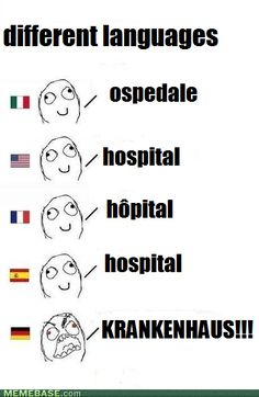 You may need to know hospital in different languages just in case you're ever in a foreign country.