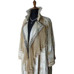 """Chestnut"" Coat, Edwardian Coat, Antique Cloak, Antique Overcoat, Antique Jacket, ca. 1905"