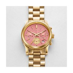 Michael Kors Runway Wrist Watch for Women for sale online Michael Kors Runway Watch, Stainless Steel Case, Quartz Watch, Gold Watch, Chronograph, Best Gifts, Handmade Items, Watches, Coupons