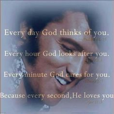 God thinks of you