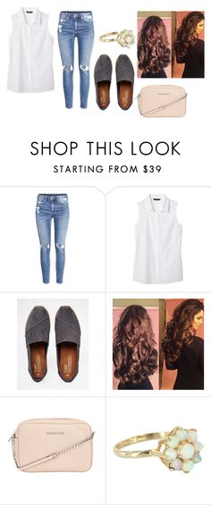 """""""Untitled #5469"""" by dominika-h ❤ liked on Polyvore featuring H&M, Banana Republic, TOMS and MICHAEL Michael Kors"""