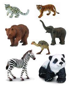 Look at this #zulilyfind! Bear & Friends Wildlife Figurine Set by CollectA  #zulilyfinds
