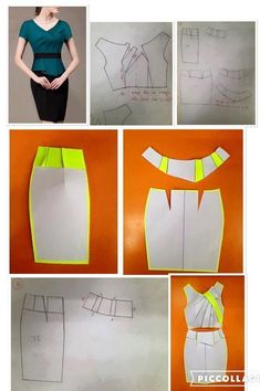 Details about Elegant Womens Office Lady Formal Business Work Party Sheath Tunic Pencil Dress Diy Clothing, Sewing Clothes, Dress Sewing Patterns, Clothing Patterns, Fashion Sewing, Diy Fashion, Diy Kleidung, Diy Dress, Sewing Techniques