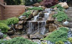 Waterfalls are wonderful water features that beautify yard landscaping and add a peaceful, tranquil and chic feel to garden design