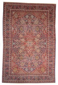 Kashan carpet  Central Persia,  circa 1900  size approximately 10ft. 1in. x 11ft. 6in.