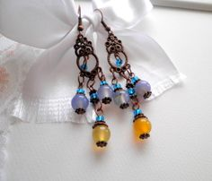 Colorful Agate Earrings from juta ehted - my jewelry shop by DaWanda.com
