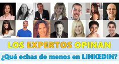 Los EXPERTOS opinan: ¿Qué le falta a #LINKEDIN para ser la herramienta perfecta? Os dejo este post colaborativo que ha realizado Miquel Nadal Vela @MNadalVela en Pulse de LinkedIn Y a vosotros, ¿Qué os gustaría que mejorara LinkedIn? ;-) Pulsa aquí para leer el p post: https://www.linkedin.com/…/los-expertos-opinan-qu%C3%A9-le-… cc LinkedIn #RRSS #SM #RedesSociales #SocialMedia #XXSS #XarxesSocials #CeliaHil #Empleo #Trabjo #SocialSelling #RRHH #RecursosHumnanos