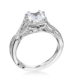 Tacori - Dantela Platinum Princess Twist Setting