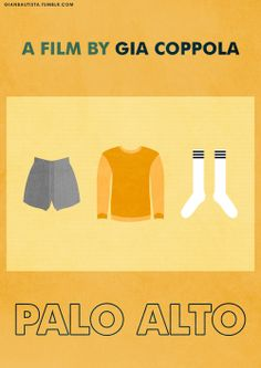 Alternative movie poster design for PALO ALTO, a film by GIA COPPOLA (Based on this image.) Gian Bautista