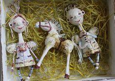 Набор елочных игрушек из ватного папье-маше   Flickr - Photo Sharing!