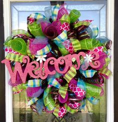 A personal favorite from my Etsy shop https://www.etsy.com/listing/231237699/pink-and-lime-spring-wreath-pink-and