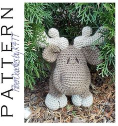 ~ Crocheted with materials listed, models which have been produced are approximately 12 inches tall. However, depending on your crochet style, this measurement may/will vary. ~