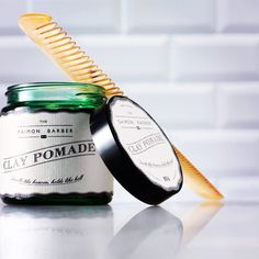Our new No.4 Clay Pomade is a water soluble styling clay, which provides a strong hold and matte finish for a more natural look.   #pomade #hair #malegrooming #style