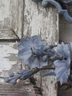 Dusty blue ironwork