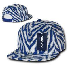 674108cd0b4 Decky Ziger Animal Print Flat Bill Hats Caps Baseball Zebra Snapback