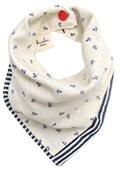 Kishu Baby Boy's Reversible Nautical Bandana Bib One Size Natural Kishu Baby http://www.amazon.com/dp/B00N1PE336/ref=cm_sw_r_pi_dp_bFstvb0J18P72