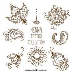 Hand Drawn Henna Mehndi Tattoo Doodle Borders Mehndi Pinterest