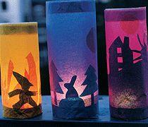 Make pumpkin lantern- Kürbislaterne basteln Halloween or Fall Lanterns - Fall Lanterns, Paper Lanterns, Holidays Halloween, Fall Halloween, Farm Crafts, Diy Crafts, Diy École, Diy For Kids, Crafts For Kids