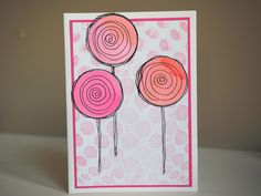 Neutral circle card in pink, asjechris 2016