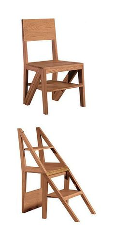 Chair - ladder stepping stool  #furniture_design