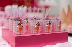 Kara's Party Ideas Barbie Doll Ice Cream Shop Pink Girl Glamorous Party Planning Ideas