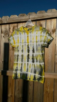 Tie Dye Shirt Yellow and Gray Tie Dye Shirt by MessyMommasTieDyes