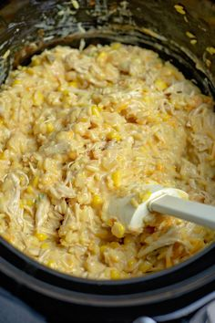 Crock-Pot Cheesy Chicken and Yellow Rice Recipe