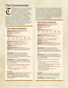 DnD 5e Homebrew — Eberron Orc Gatekeepers by Freewolf