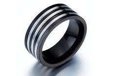 The Man Ring/Spinner Ring/Band Ring/Mens Black Ring for Him/Mens Unique Ring/Gothic Ring/Edgy Ring/Boyfriend Gift for Man via Etsy Black Rings For Him, Rings For Men, Gothic Engagement Ring, Unique Mens Rings, Man Ring, Gents Ring, Gothic Rings, Spinner Rings, Ring Bracelet
