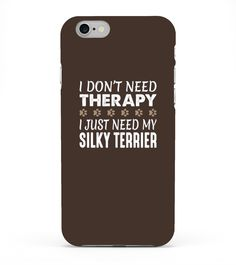 Kids Silky Terrier T-shirt - No Therapy Needed - Funny 4 Navy