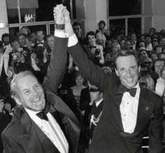 Bob Fosse and Roy Scheider at Festival de Cannes for All That Jazz