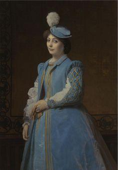 Charles-François Jalabert - Portrait of a Lady in Blue
