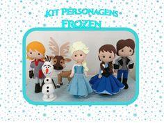 Personagens Frozen Feltro