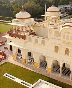 Rambagh Palace--Jaipur 19th centurey palace with 85 luxury rooms.