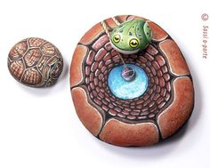 ~3-D painted stones