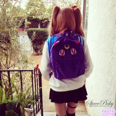 Super Lovely Luna Bag!  Purple only now if popular will have the white one!  Original designer:  Sweetlove--Chinese designer 100% Authenic bag  Size: 30cm width  40cm height  10cm bottom width  great match with the sailormoon jumper here http://spreepicky.storenvy.com/products/32542...