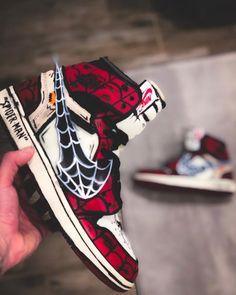 All Nike Shoes, Hype Shoes, Sneakers Nike, Air Jordan, Custom Painted Shoes, Custom Shoes, Moda Geek, Zapatillas Jordan Retro, Marvel Shoes