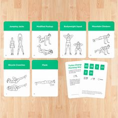 Visual exercise cards