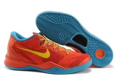 """Zoom Air Kobe 8 System """"YOTH"""" Men Size Red/Blue/Yellow Nike NBA Sneakers for Sale"""