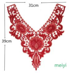 Lace Embroidered Polyester Flower Neckline Collar Trim Clothes Sewing Applique | eBay