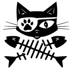 Cat Pirate Decal Sticker / Cat Decal