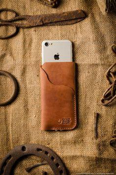 Cover iPhone 7 Plus Cover iPhone 8 Plus Cuoio [ Harris Tweed