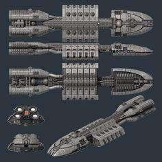 Battlestar Berzer from Battlestar Galactica
