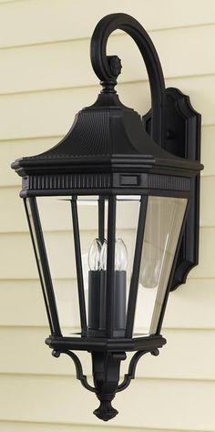 """0-000350>30""""""""h Cotswold Lane Outdoor Lantern Black"""