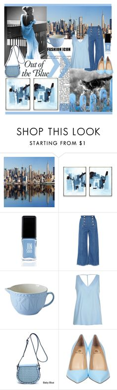 """""""Out of the blue"""" by hereisalessia ❤ liked on Polyvore featuring JINsoon, Steve J & Yoni P, Mason Cash, River Island and Semilla"""