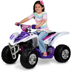 Yamaha Raptor ATV Girls' 12-Volt Battery-Powered Ride-On