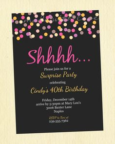 Surprise Party Invitation 75th Birthday Invitations 70th Parties 50th