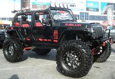 4 Door Custom Jeep Wrangler Rubicon I would love to take this on the beach!!!